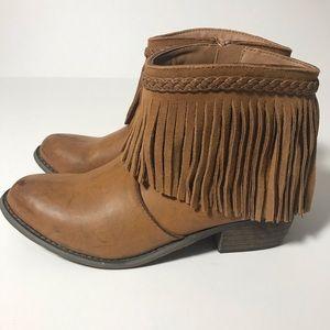 Corkys Fringe Boho Brown Festival Ankle Boots